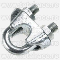 bride cablu otel cleme clipsuri DIN 741 zincate cablu tractiune ochiuri