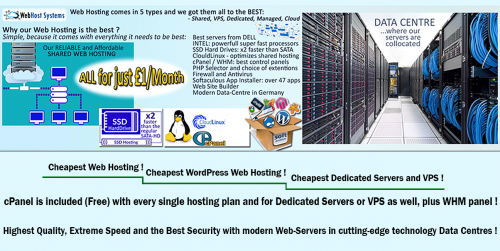All types of Web Hosting from SpeedoServers.com of WebHost Systems Ltd